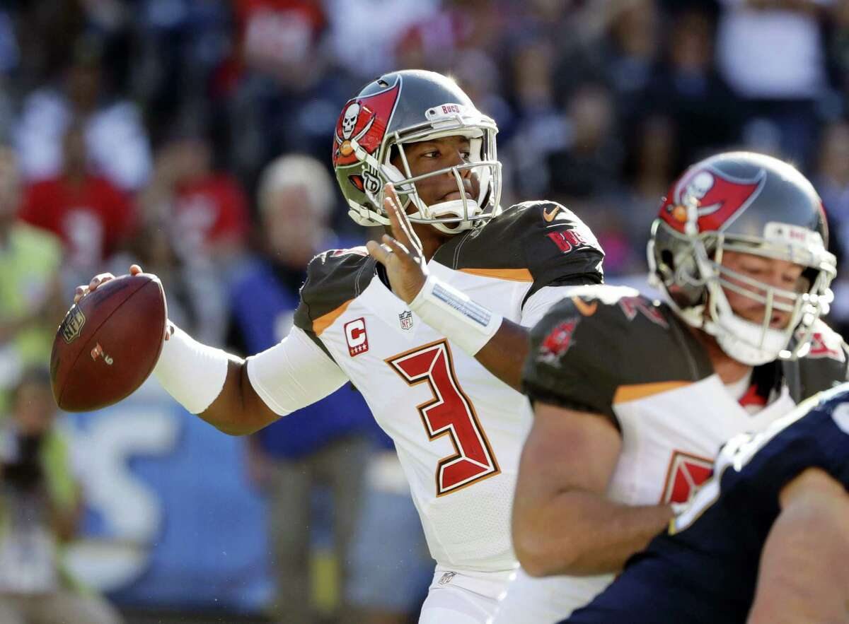Tampa Bay Buccaneers quarterback Jameis Winston passes against the Chargers last week.