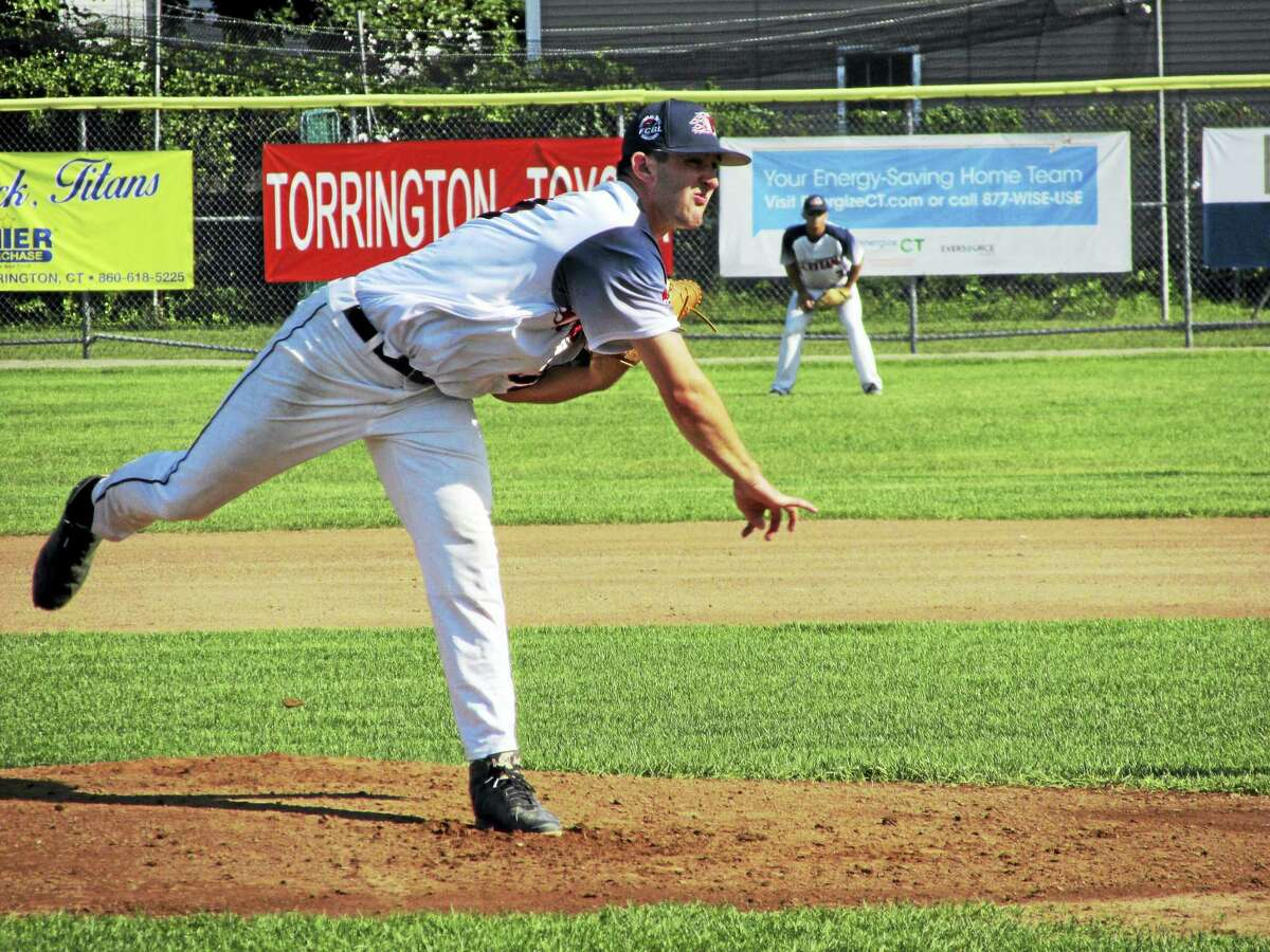 Connor Lewis helped keep Torrington's hopes for an FCBL playoff slot alive.