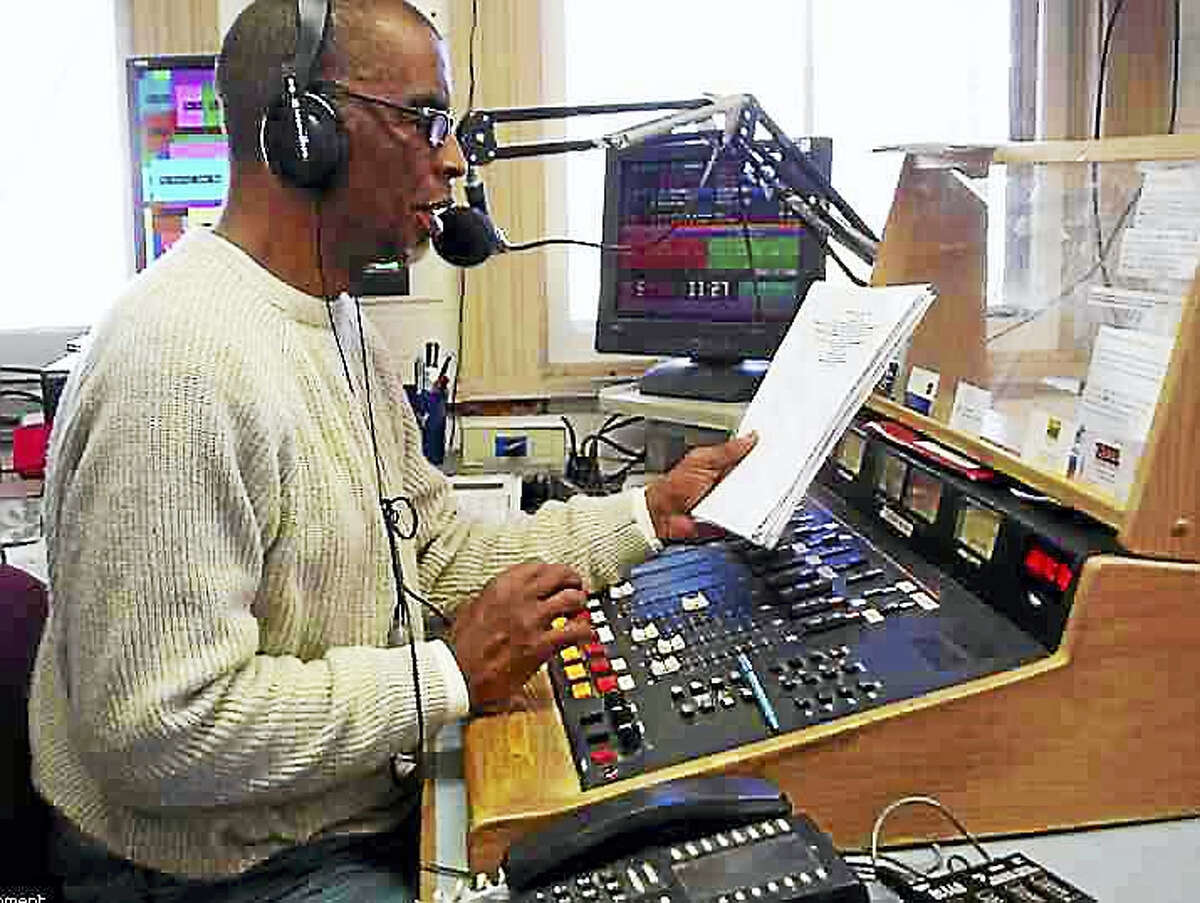 Robert Chatfield Sr. on the board at WQQQ-FM. Chatfield hosted programs at the station for years before it became a public radio affiliate. He died Thursday in a car accident in the Lakeville section of Salisbury.