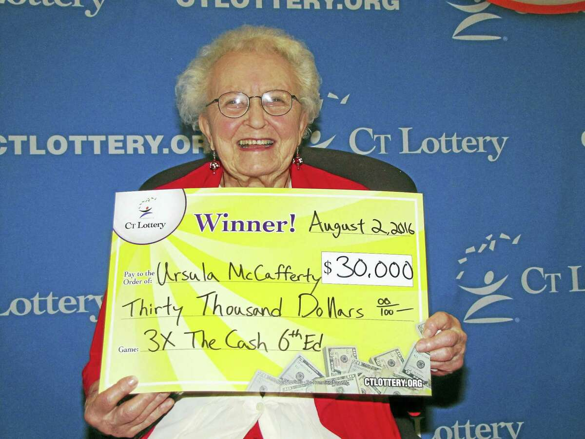 Ursula McCaffrey recently won $30K by playing the Connecticut Lottery's 3x the Cash game.