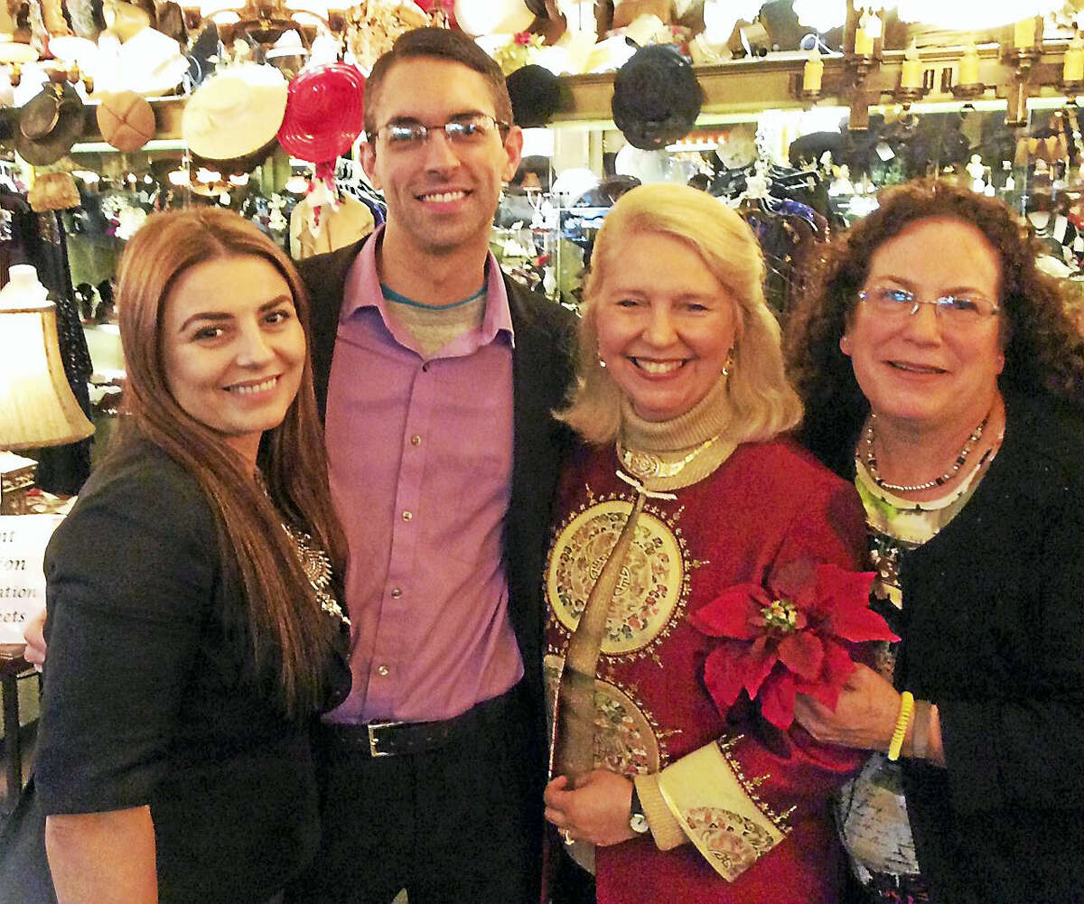 FISH executive director Deirdre DiCara, second from right, enjoys the evening with friends and special guests.