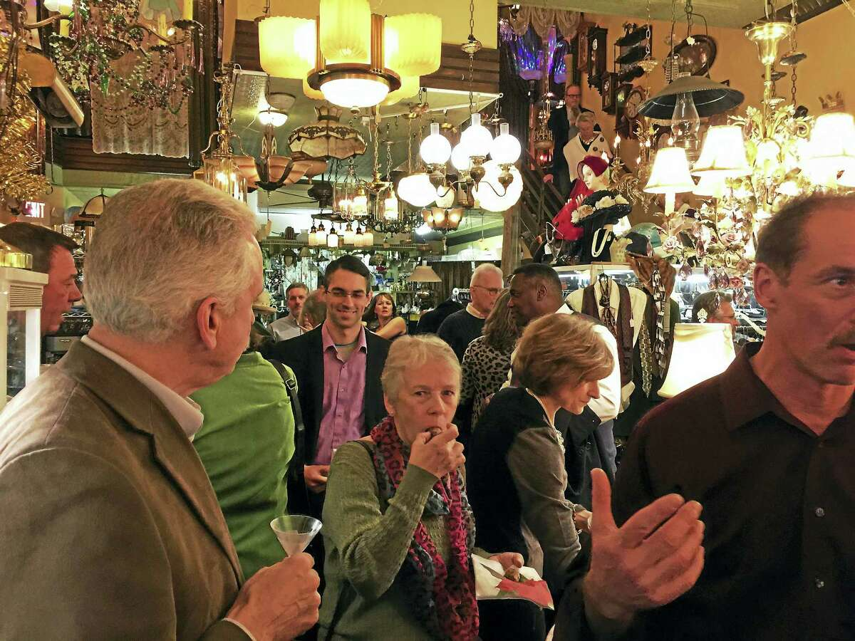 """Ben Lambert - The Register Citizen A """"Deck the Halls"""" martini party and fundraiser was held to benefit Friends in Service to Humanity Wednesday in Torrington."""