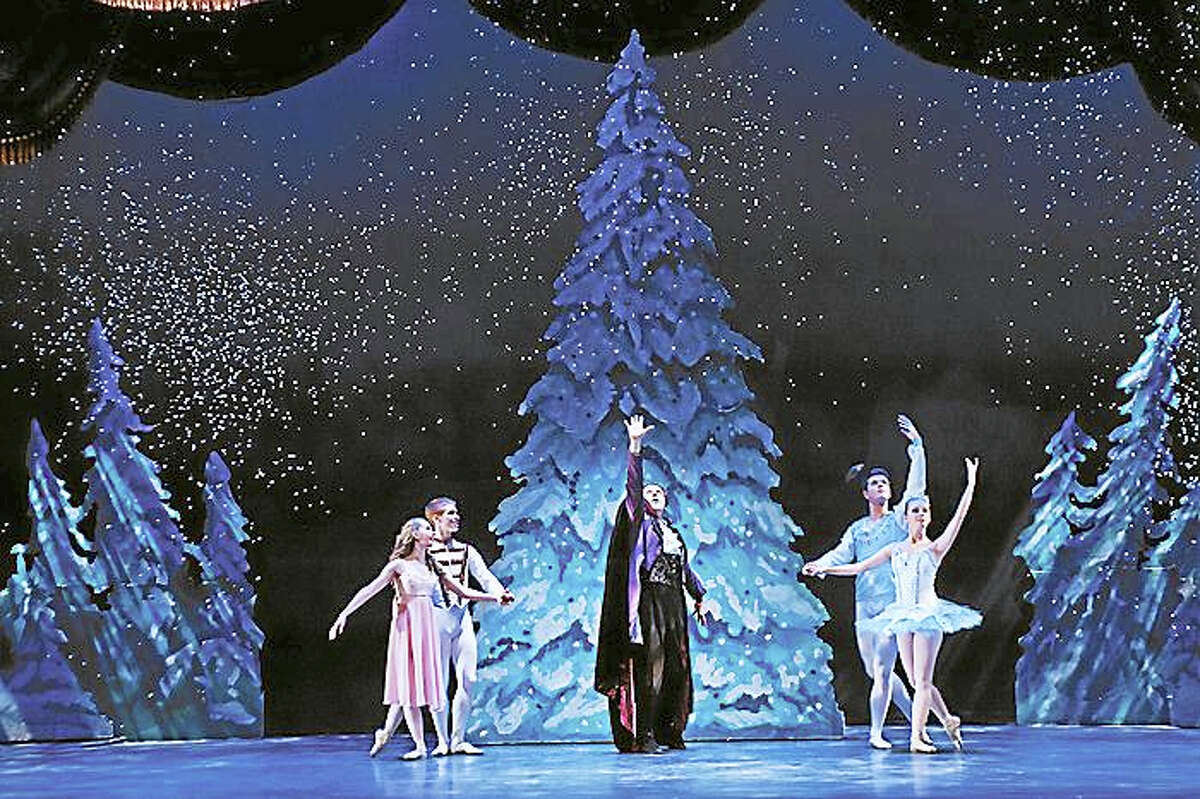 Contributed photo - The Nutmeg Ballet The Nutmeg Ballet Conservatory will stage The Nutcracker this weekend at the Warner Theatre in Torrington, with shows on Saturday and Sunday. The conservatory is also presenting the holiday show at the Bushnell Theater in Hartford Dec. 17-18.