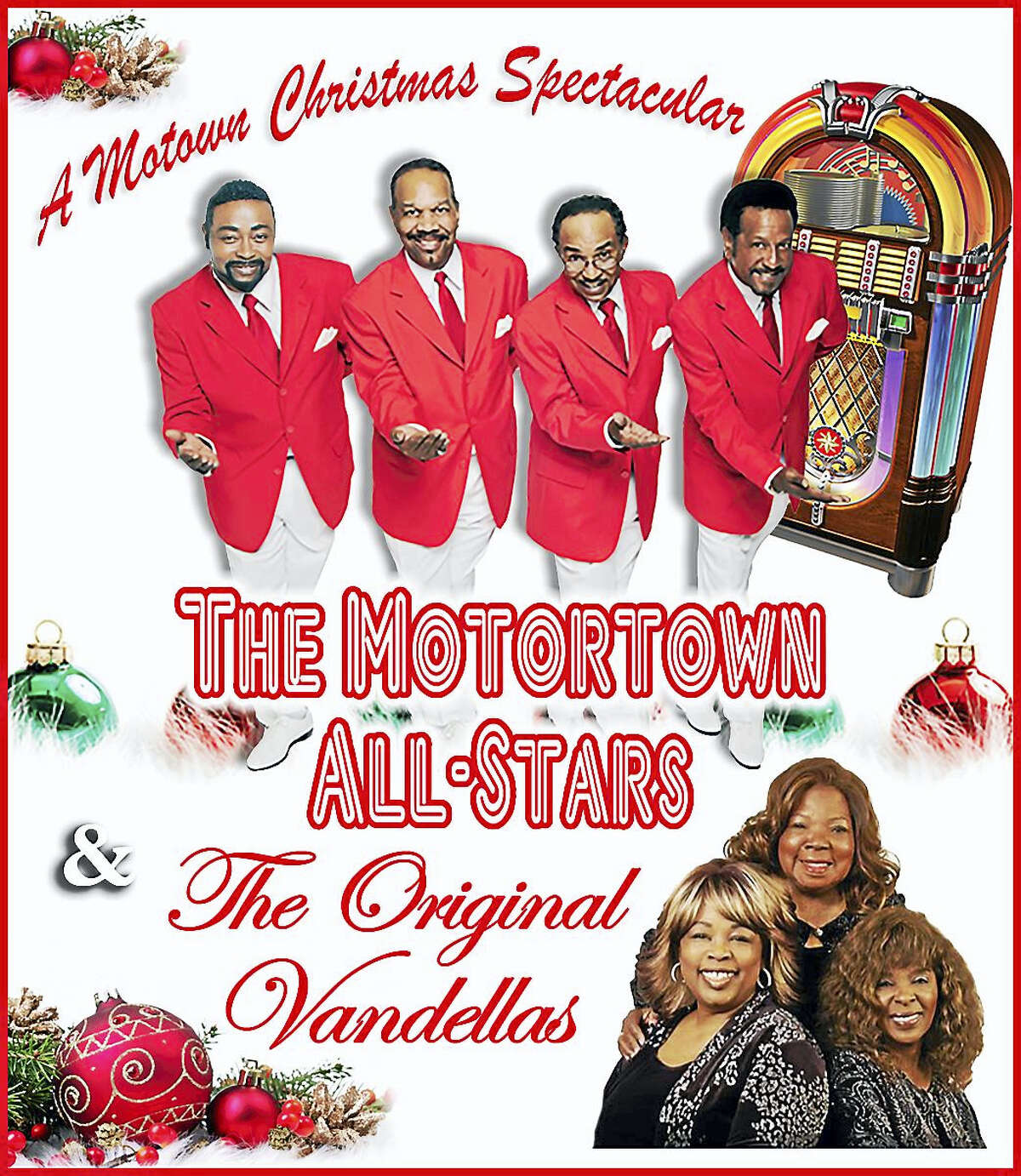 Contributed photo The Motortown All-Stars and the Original Vandellas are presenting a special holiday concert at the Warner Theatre on Saturday, Dec. 17.