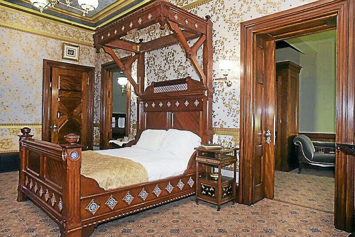 Contributed photo The Mark Twain House & Museum has opened its newly restored Mahogany Suite, the lavish guest quarters in which close friends of Samuel and Olivia Clemens stayed when visiting the author's Hartford home. The space has been closed to public view for more than a decade.