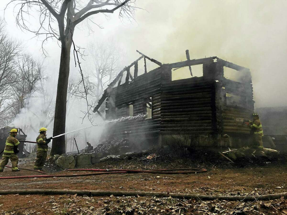 Ben Lambert - The Register CitizenA house was destroyed by fire earlier this morning on Estey Road in Norfolk. No one was injured.