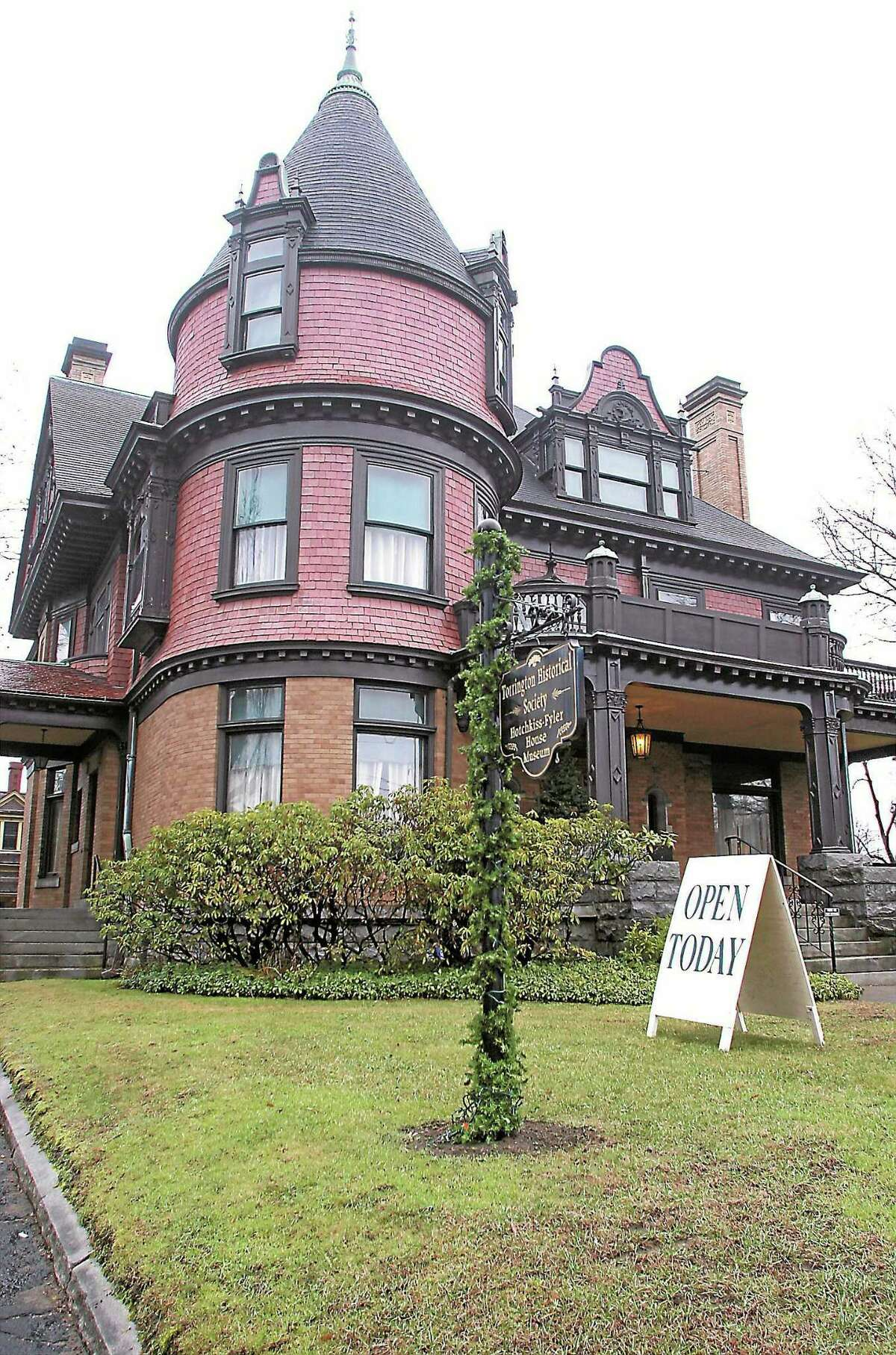 Contributed photos - Torrington Historical Society The Hotchkiss-Fyler House on Main Street will open for holiday tours on Saturday, Dec. 10, and will remain open through Dec. 30.