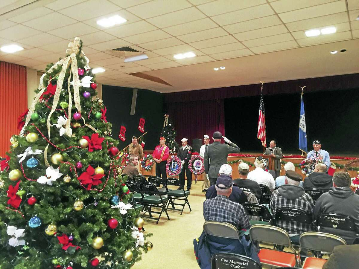 Ben Lambert - The Register CitizenThe 75th anniversary of the attack on Pearl Harbor was marked with a ceremony Wednesday in Torrington.
