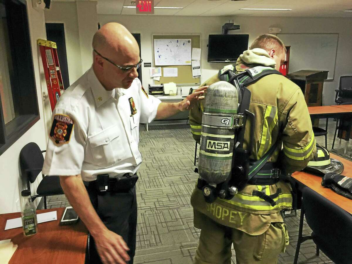 Ben Lambert - The Register CitizenThe Torrington Fire Department is aiming to switch its supplier of breathing apparatuses.