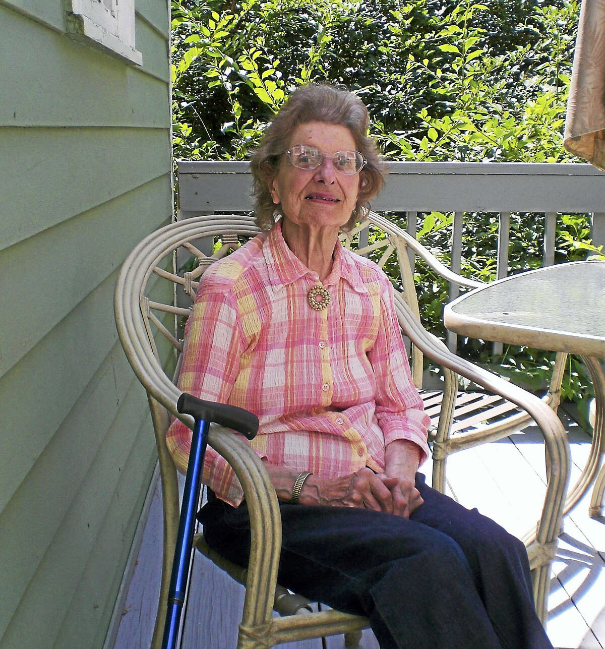 Contributed photo During the summer of 2015, Bantam resident, Mary Osborne, 92, had an energy-usage assessment conducted on her home. Through a state-wide energy-saving program for residents on fixed incomes, the efficiency of her home was significantly upgraded earlier this year, at no cost to her.