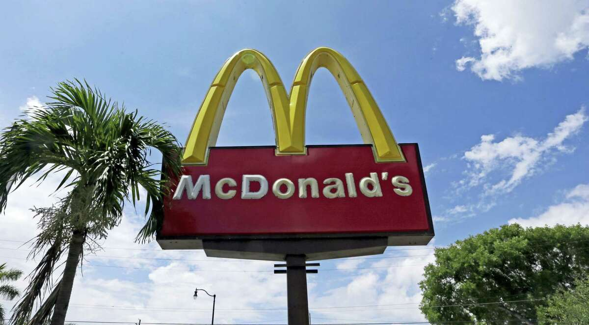 This Tuesday photo shows a McDonald's sign in Miami.