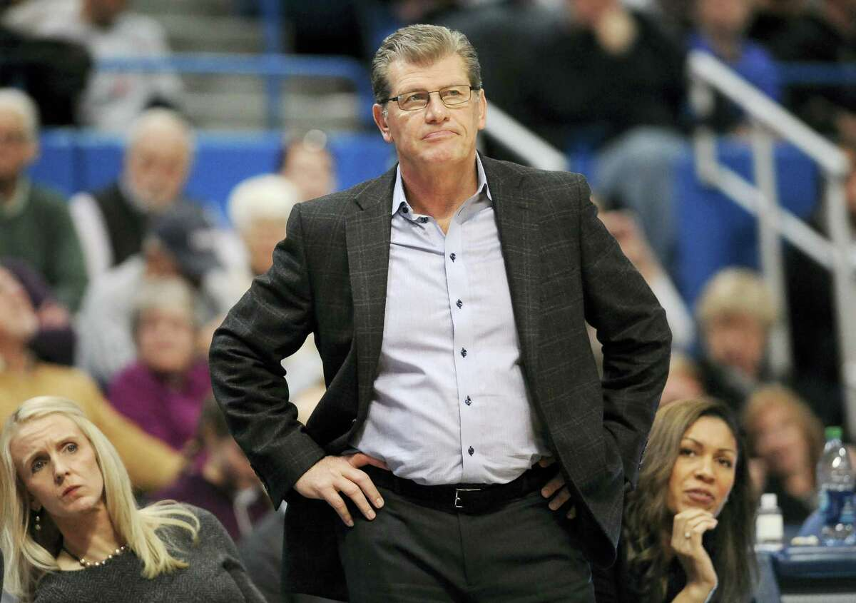 Coach Geno Auriemma and the UConn women's basketball team will take on No. 14 Texas on Sunday.