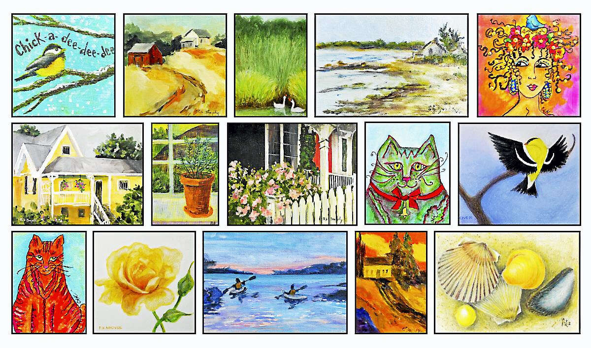 3rd Annual Art-2-Go Sale with the Ten-2-One Artists at the Crescent Gallery, 158 Main Street, Thomaston, CT Saturday, December 3, 12-7pm Sunday, December 4, 12-4pm Our 3rd Annual Art-2-Go Sale features small paintings and photographs, miniatures, note cards, and more created by local Connecticut artists. Come browse and enjoy?- you just might find that extraordinary, special, one-of-kind, holiday gift that youíve been searching for. Additional larger pieces will also be available in the gallery. Light refreshments will be served. 20% of proceeds goes to the Fine Arts Connection of Thomaston. Contact: Pat Piscopo (860) 283-2155 for more information Images by: Bob Brophy, Cassandra Guidess, Carol Kunschaft, Patty MacIver & Pat Piscopo