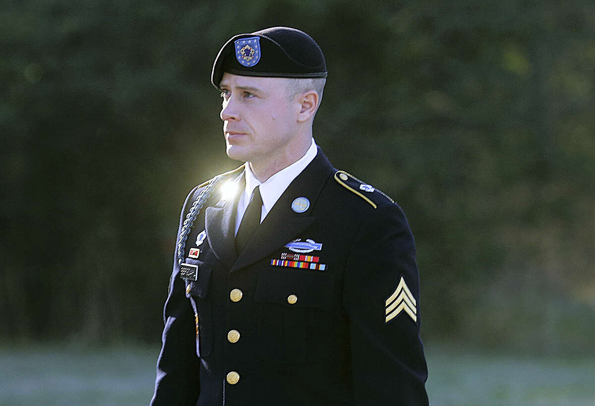 In this Jan. 12, 2016, file photo, Army Sgt. Bowe Bergdahl arrives for a pretrial hearing at Fort Bragg, N.C. Bergdahl, a former prisoner of war accused of endangering his U.S. comrades by walking off his post in Afghanistan is asking President Barack Obama to pardon him before leaving office. White House and Justice Department officials say Bergdahl submitted the clemency request. If granted, it would allow Bergdahl to avert a court-martial trial scheduled for April. He faces charges carrying a maximum penalty of life in prison.