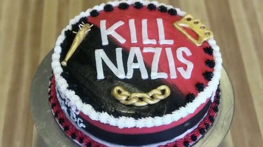 Oakland baker Ashley Shotwell says her Facebook page was flooded with negative reviews after she shared a video of a birthday cake decorated with the phrase 'Kill Nazis.' Photo: Courtesy: Ashley Shotwell