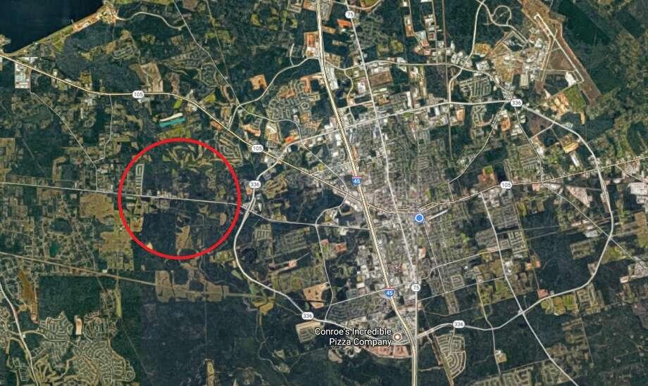 Authorities have FM 2854 shut down at Allen Drive as they investigate an auto-pedestrian crash. Photo: Google Maps