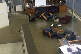 PHOTOS: Lessons learned from Hurricane Harvey   Office chairs sit in flood waters inside the KHOU offices during Hurricane Harvey, Sunday, Aug. 27, 2017.  According KHOU-TV the station's operations will not be returning to its long-time location along Allen Parkway after sustaining heavy damaged during Hurricane Harvey flooding. In a statement shared on the station's website, KHOU President and General Manager Susan McEldoon spelled out plans for the foreseeable future. Up until the hurricane, KHOU was the last local station in Houston to have its headquarters so close to downtown.   See what Harvey taught us about Houston and Houstonians...