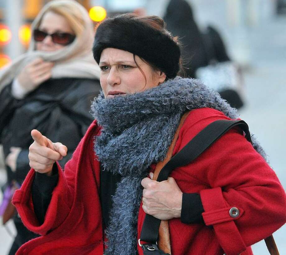 Hartford-- Donna Bello leaves federal court after the trial began the Gift Table pyramid scheme.  Photo-Peter Casolino 1/24/13