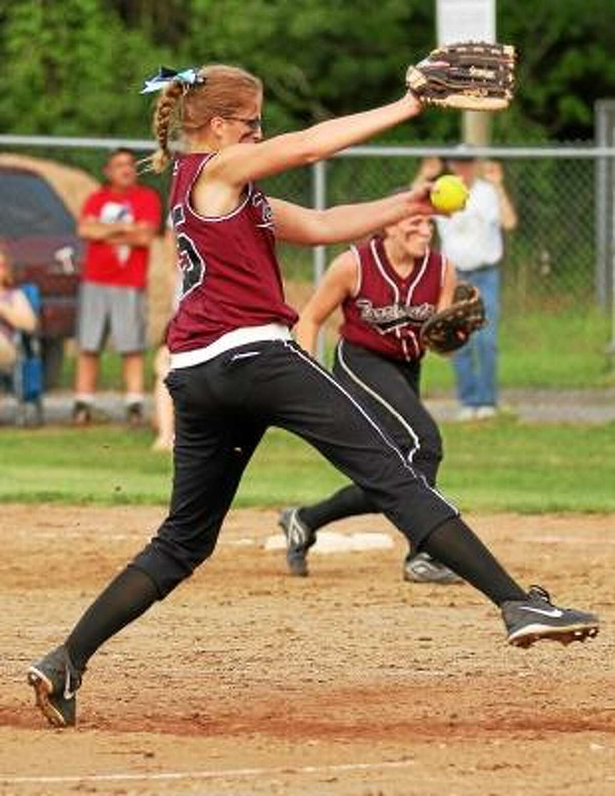 Marianne Killackey/Special to the Register Citizen Sydney Matzko struck out 11 batters in her team's 2-1 lose to Bunnell.