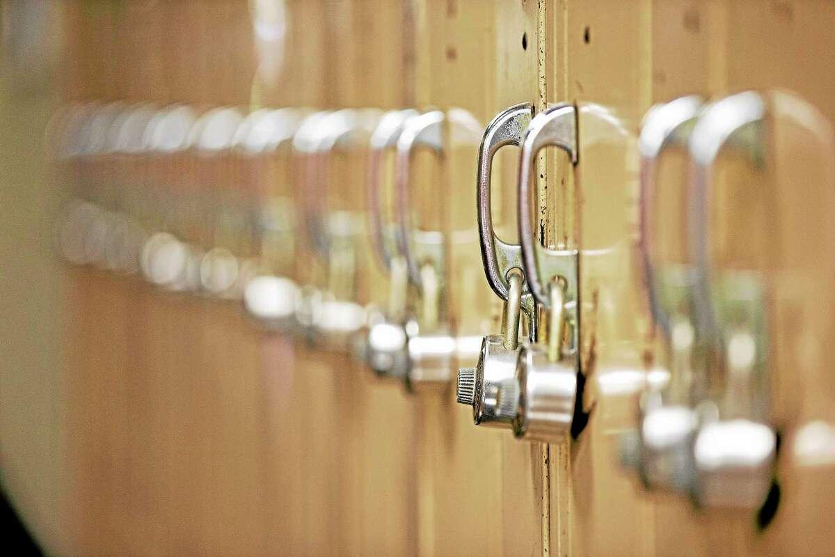 Matt Rourke-The Associated PressShown are lockers at South Philadelphia High School, Sept. 9, 2013, in Philadelphia.