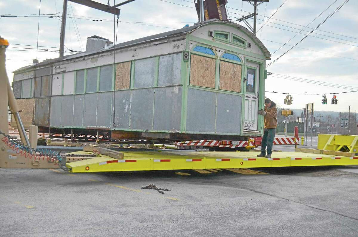 Skee's Diner was moved Sunday morning by the Torrington Preservation Trust. The plan is to restore it while in storage and then move it to its new home.