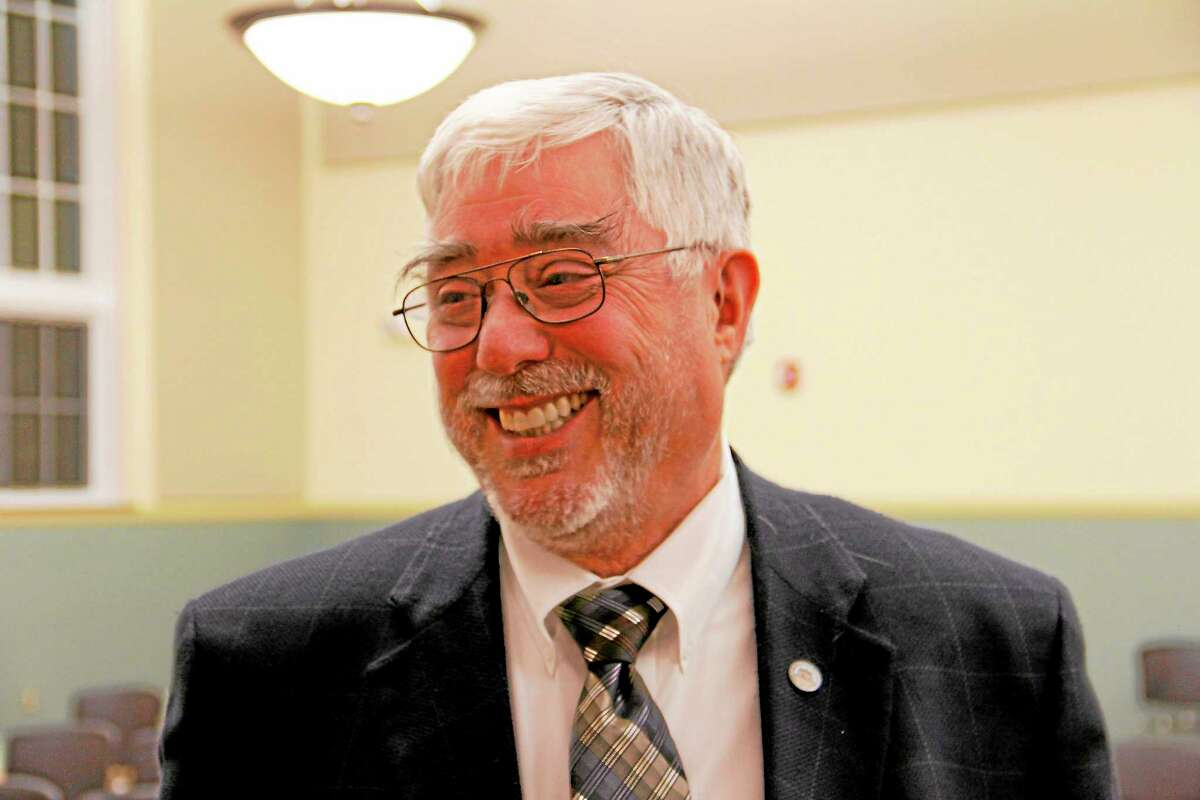 Gerald Zordan after the city council meeting on Monday, Sept. 23, at City Hall in Torrington. Zordan was appointed to serve as interim mayor from Oct. 1 and Dec. 2 after Mayor Ryan Bingham said he would step down on Oct. 1.