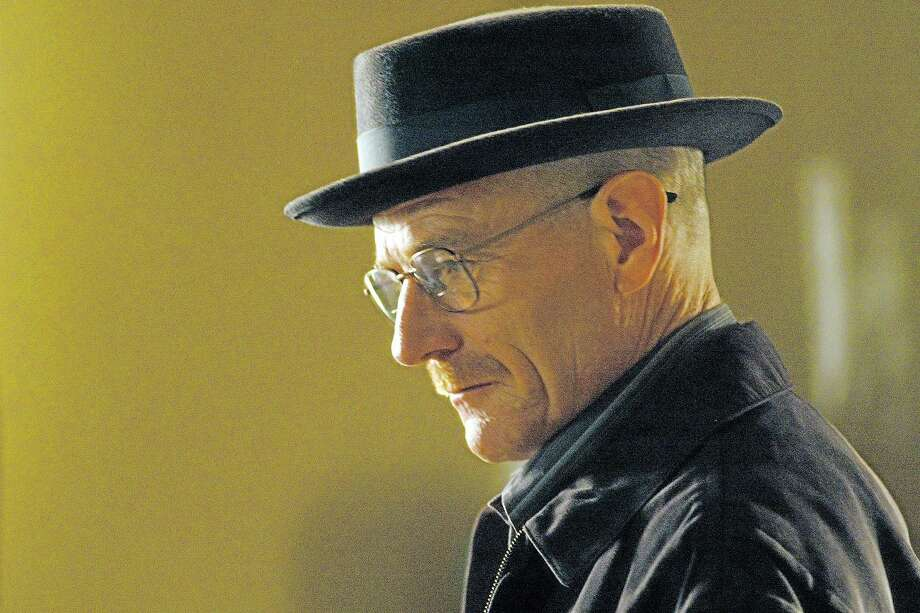 """This image released by AMC shows Walter White, played by Bryan Cranston, wearing a Bollman 1940's pork pie hat in a scene from the second season of """"Breaking Bad.""""  The series finale of the popular drama series aired on Sunday, Sept. 29. (AP Photo/AMC, Ursula Coyote) Photo: AP / AMC"""