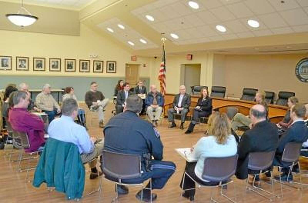 Community leaders and residents attended Rep. Esty's forum Tuesday morning in Torrington.