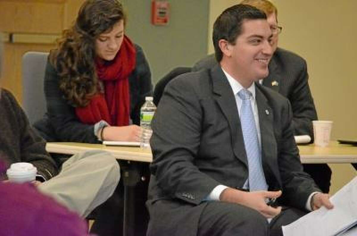 Torrington Mayor Ryan Bingham joined other officials and community leaders and residents for Rep. Esty's forum Tuesday morning in Torrington.