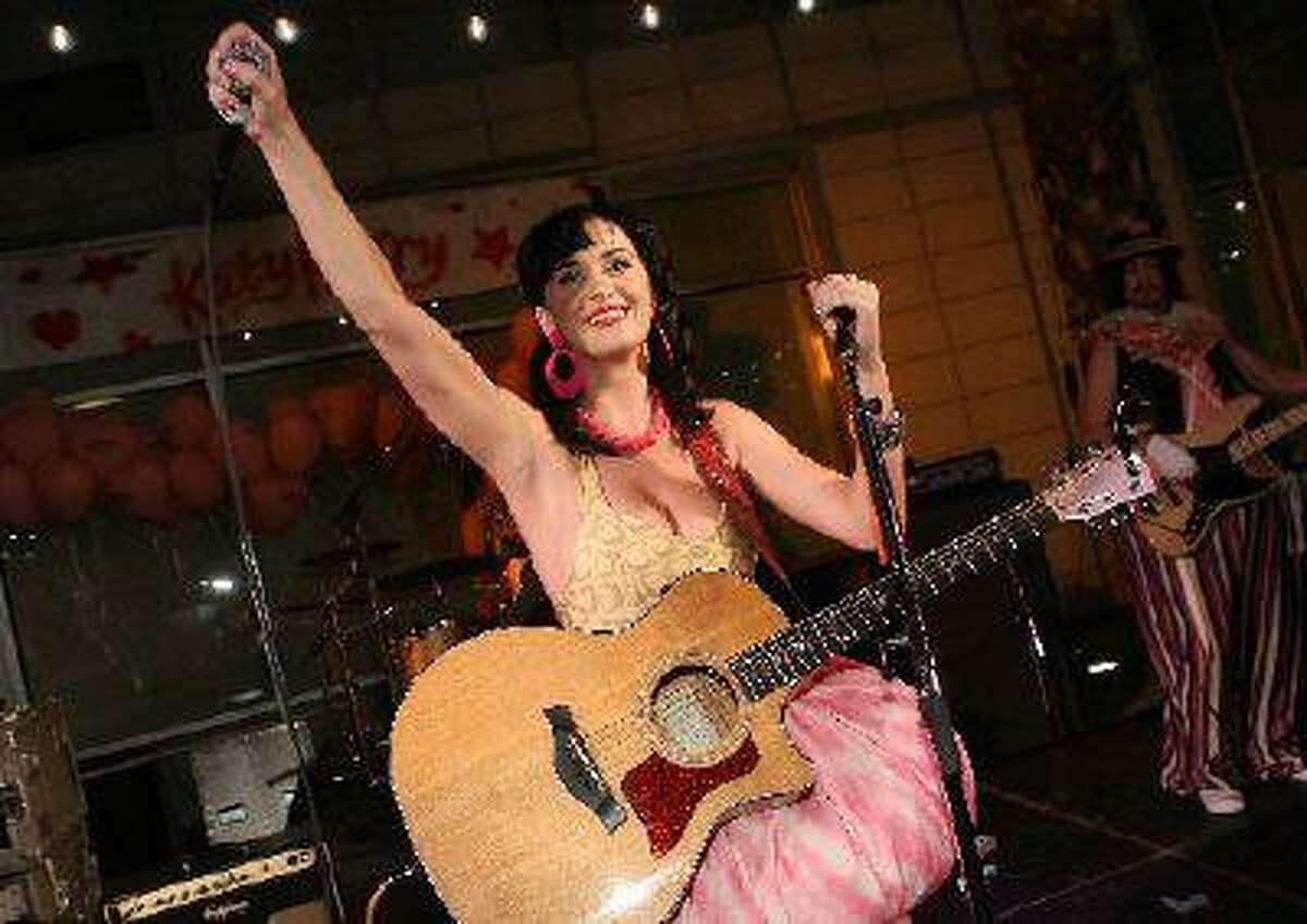 Katy Perry attends the Katy Perry record release party for