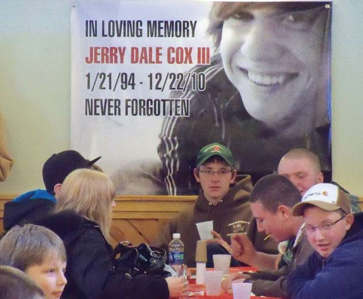 Register Citizen file photo Friends, family and complete strangers of Dale Cox came together for a pasta dinner honoring the teenager's memory after he was killed in a motor vehicle crash.