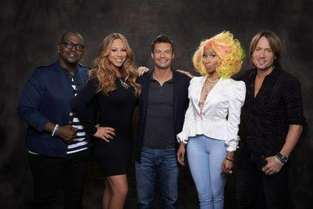 AMERICAN IDOL: SEASON 12: L-R: Randy Jackson, Mariah Carey, Ryan Seacrest, Nicki Minaj and Keith Urban. CR: Michael Becker / FOX.