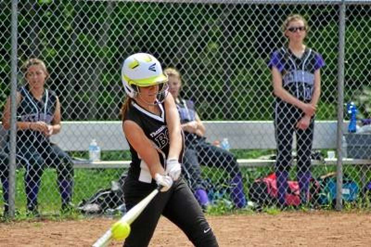 Pete Paguaga/Register Citizen Thomaston's Karley Conway went 2-for-4 with a home run and two RBI in the Golden Bears'7-3 victory against Westbrook.
