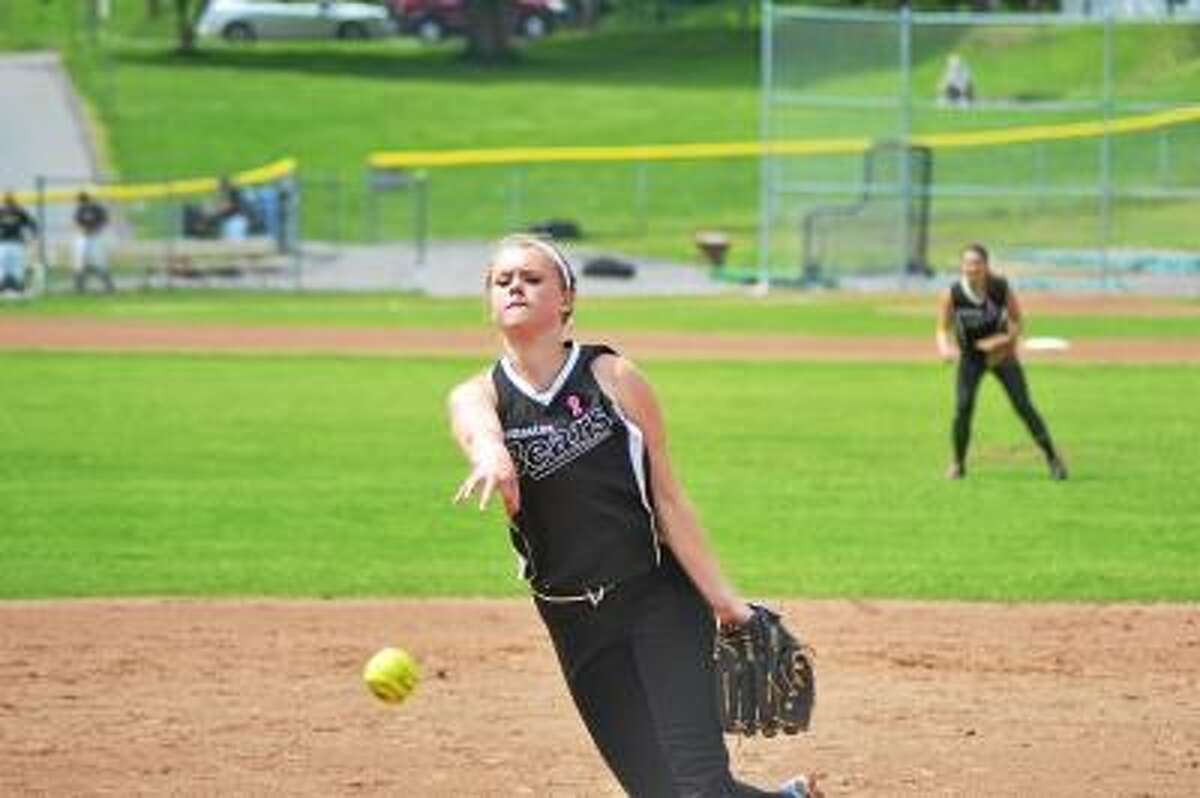 Pete Paguaga/Register Citizen Thomaston starting pitcher Abby Hurlbert picked up the victory, striking out seven and walking three. Thomaston defeated Westbrook 7-3.