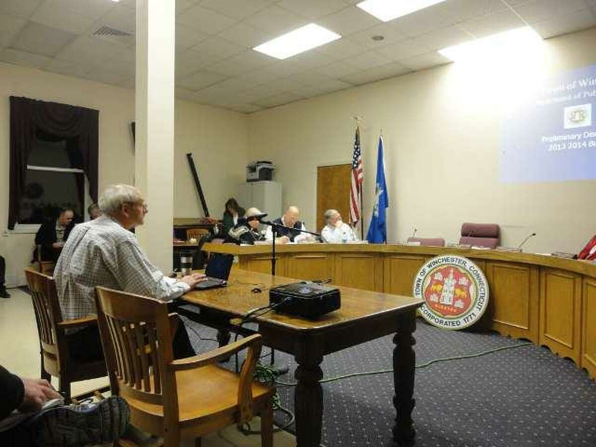 JASON SIEDZIK/ Register Citizen Public works director Jim Rotondo approached the Board of Selectmen with a familiar request, asking for more funds to help rebuild Winsted's crumbling infrastructure.