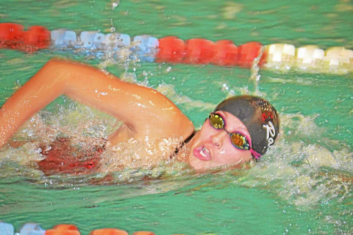 Melanie Nadle, finished in second place in both the 500-yard freestyle and the 200-yard freestyle.