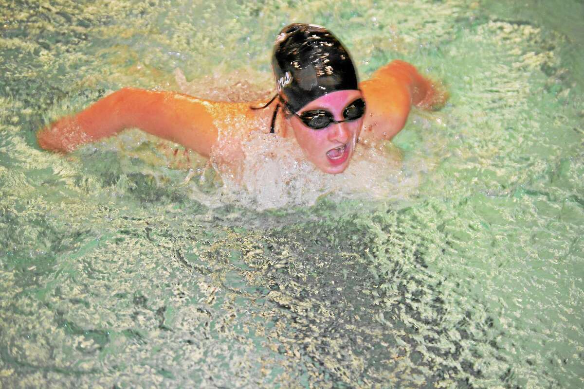 Makenzie Welch won two races, the 200-yard individual medley and was part of the 200-yard medley relay team.