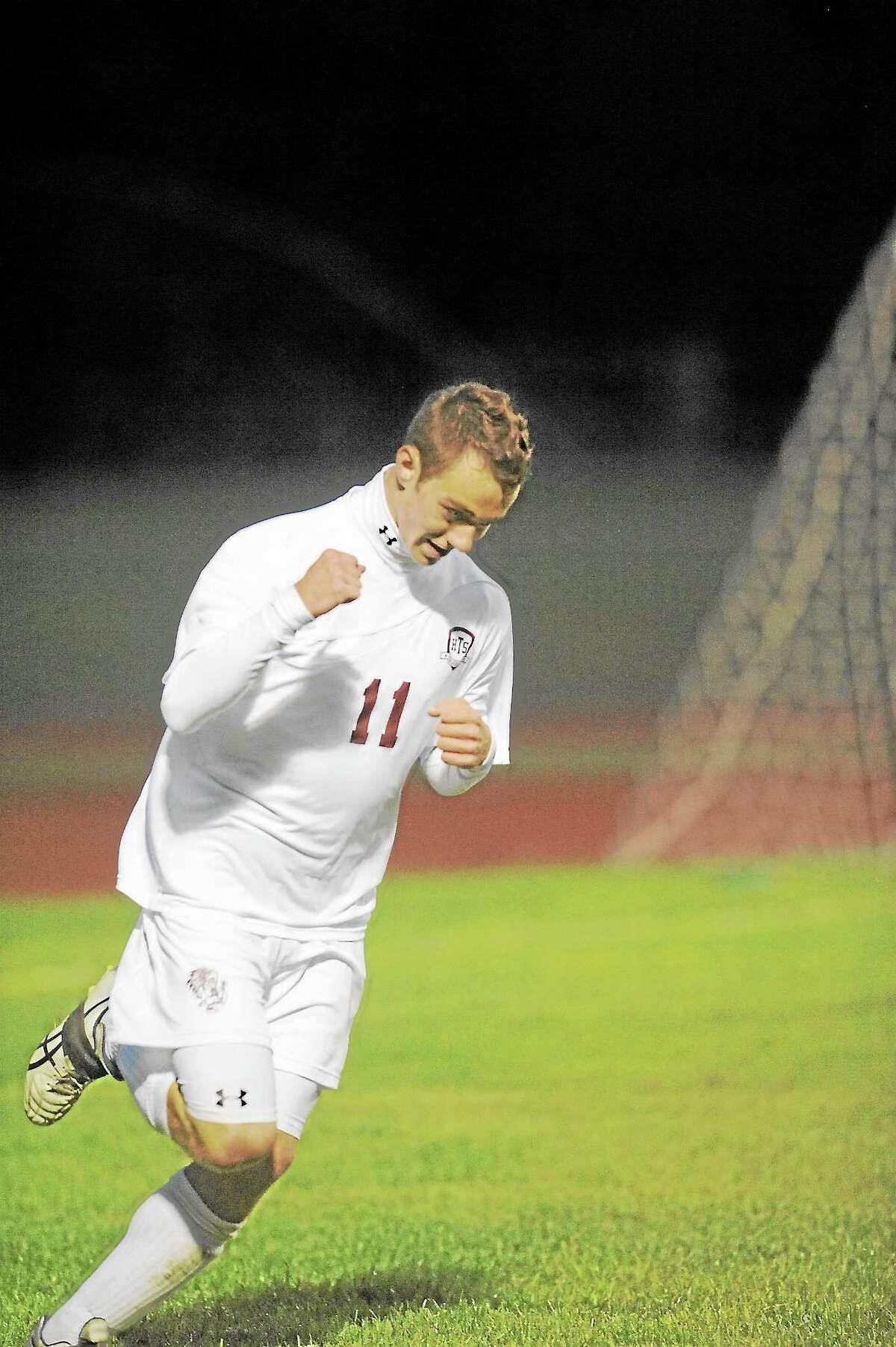 Laurie Gaboardi Register CitizenSeth Gesmondi scores his first goal of the season, Torrington's third in its 7-0 win against Derby.