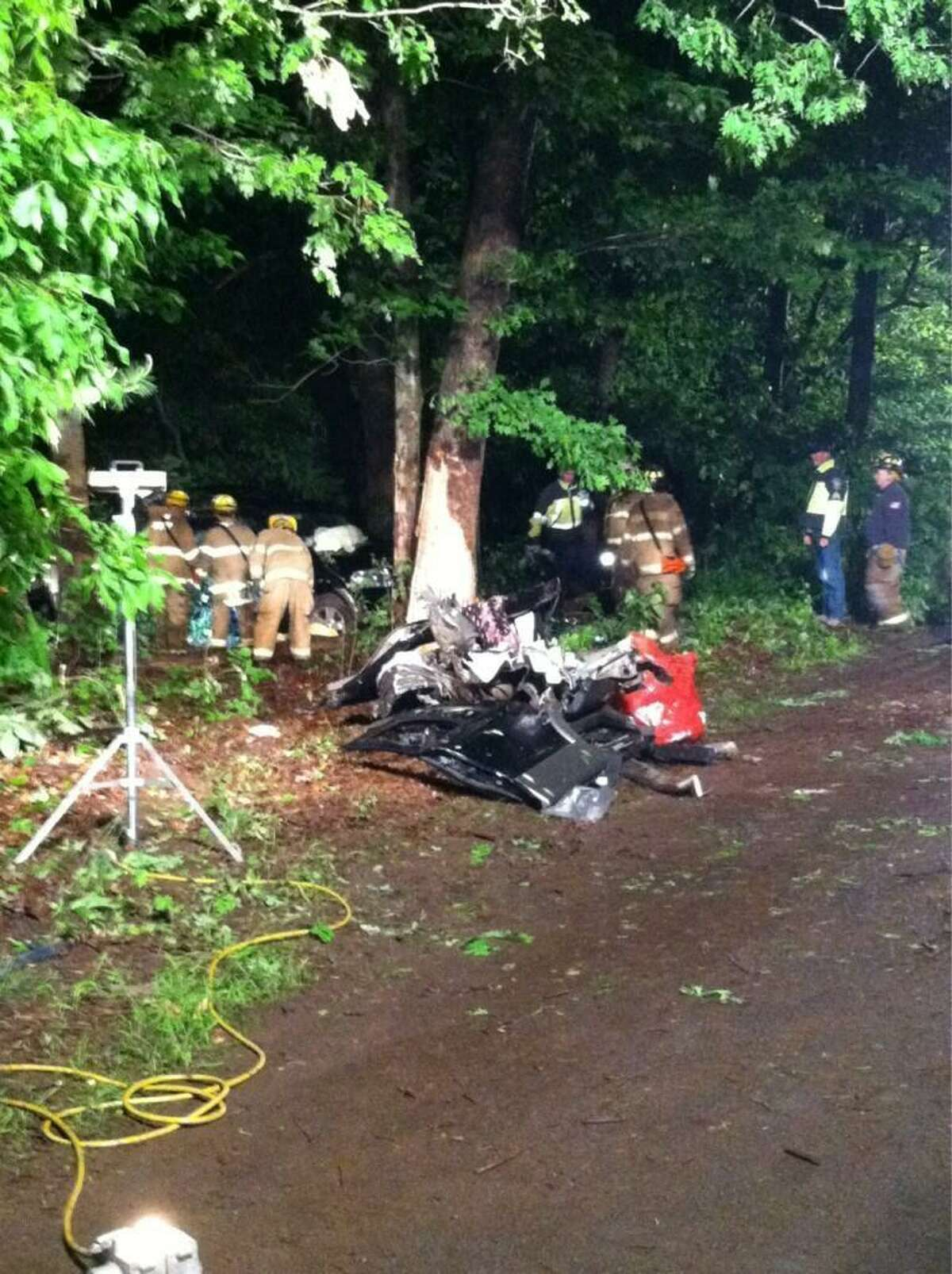 Photo from scene of South Windsor fatal crash. Contributed photo/South Windsor Police Chief Matthew Reed