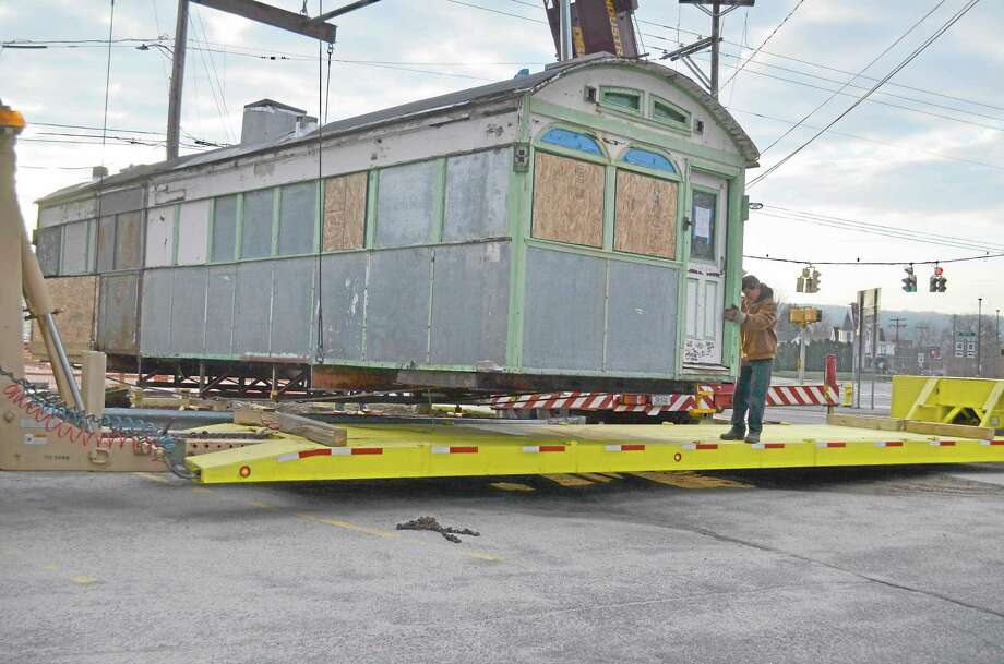 Skee's Diner was moved in April by the Torrington Preservation Trust. The plan is to restore it while in storage and then move it to its new home. Photo: Register Citizen File Photo