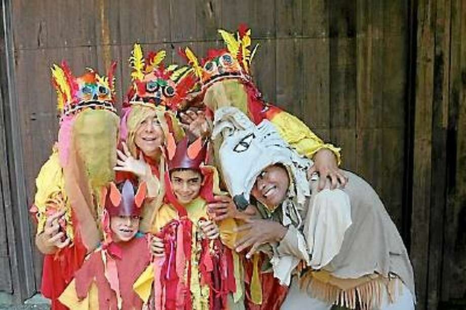 Submitted photo A troupe of young actors prepare for their performance at the Litchfield Community Center with the Grumbling Grypons this Sunday.