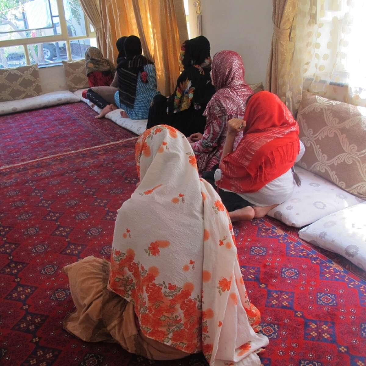 A private women's shelter in Kabul. Most women living there now fled abusive homes or forced teen-age marriages.