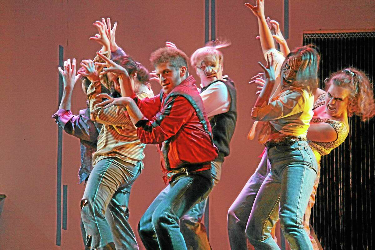 Submitted photos - Sharon Wilcox Cast members rehearse a dance scene for