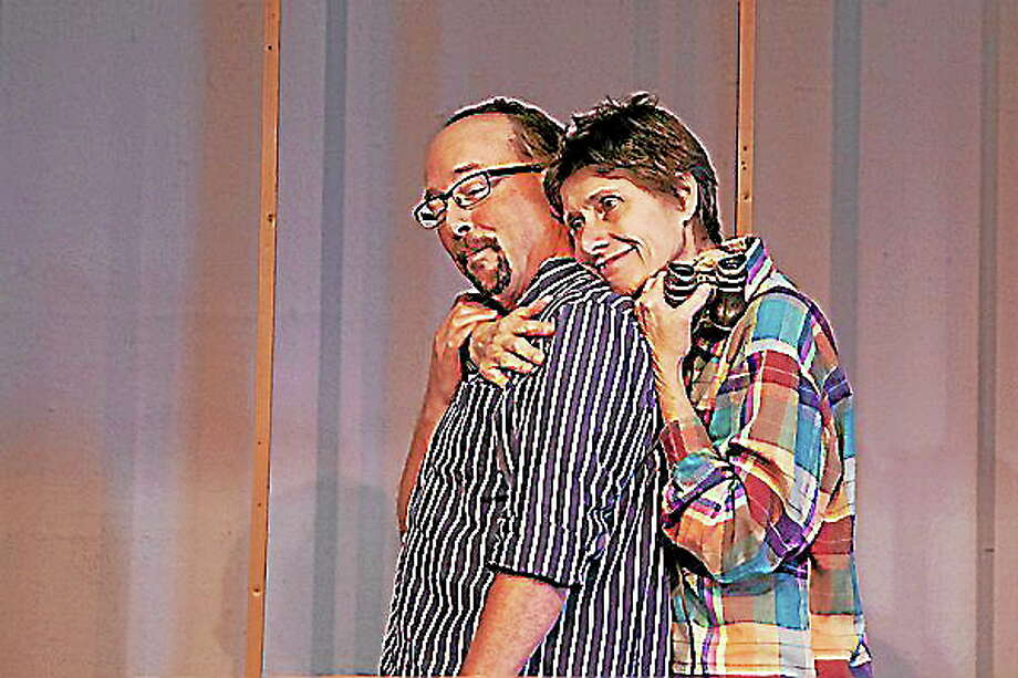 "Photo Captions: ""Stanchfield Tames"": L to R – Scott Stanchfield and Norman Thayer, Jr. and Sarah Tames and Ethel Thayer Photo Credits: Heather Boscarino Photo: Journal Register Co."