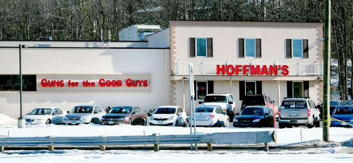 Hoffman's Gun Center & Indoor Shooting Range on the Berlin Turnpike in Newington photographed on 1/7/2012.Photo by Arnold Gold/New Haven Register AG0479C