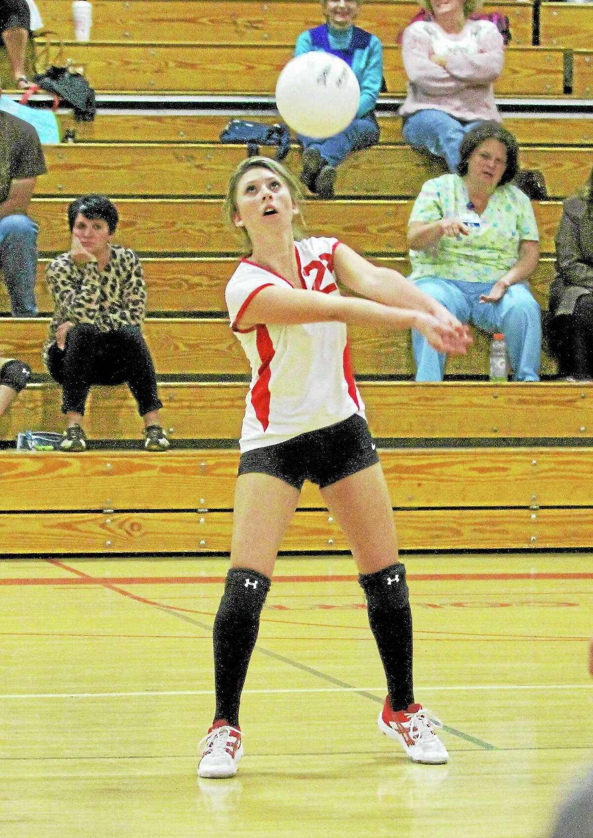 Northwestern's Megan Janco passes the ball during the Highlanders 3-2 win over Terryville.