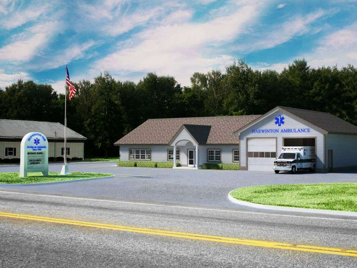 Proposed design for new Harwinton EMS building. Contributed photo.