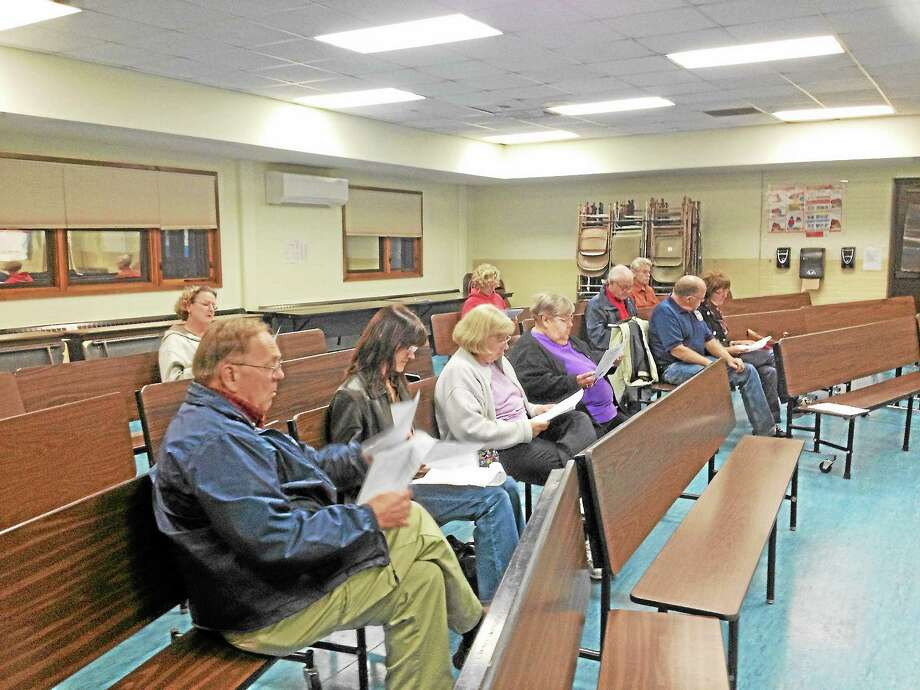 Barkhamsted residents came out to hear and approve four ordinance changes on Tuesday night. Photo: Kate Hartman—Register Citizen