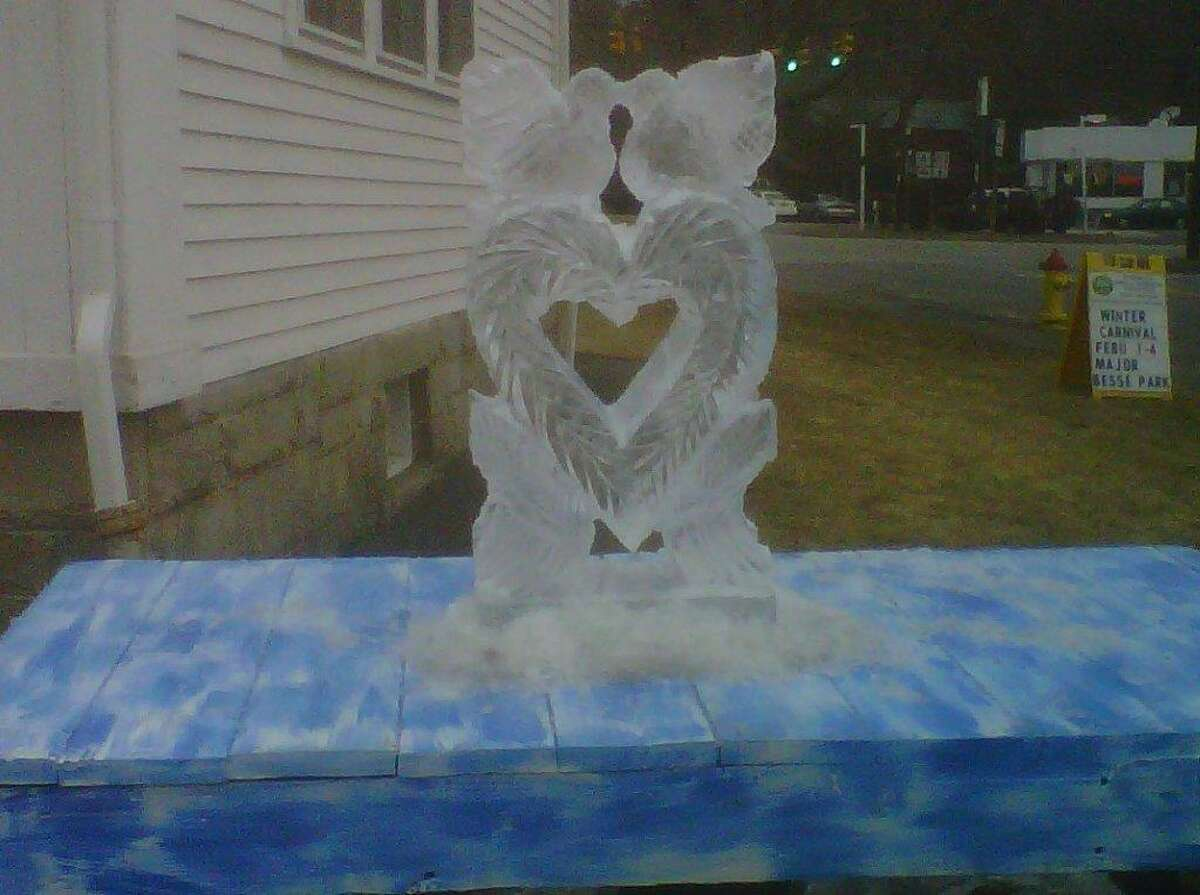 An ice sculpture from last year's Winter Carnival. Submitted photo.