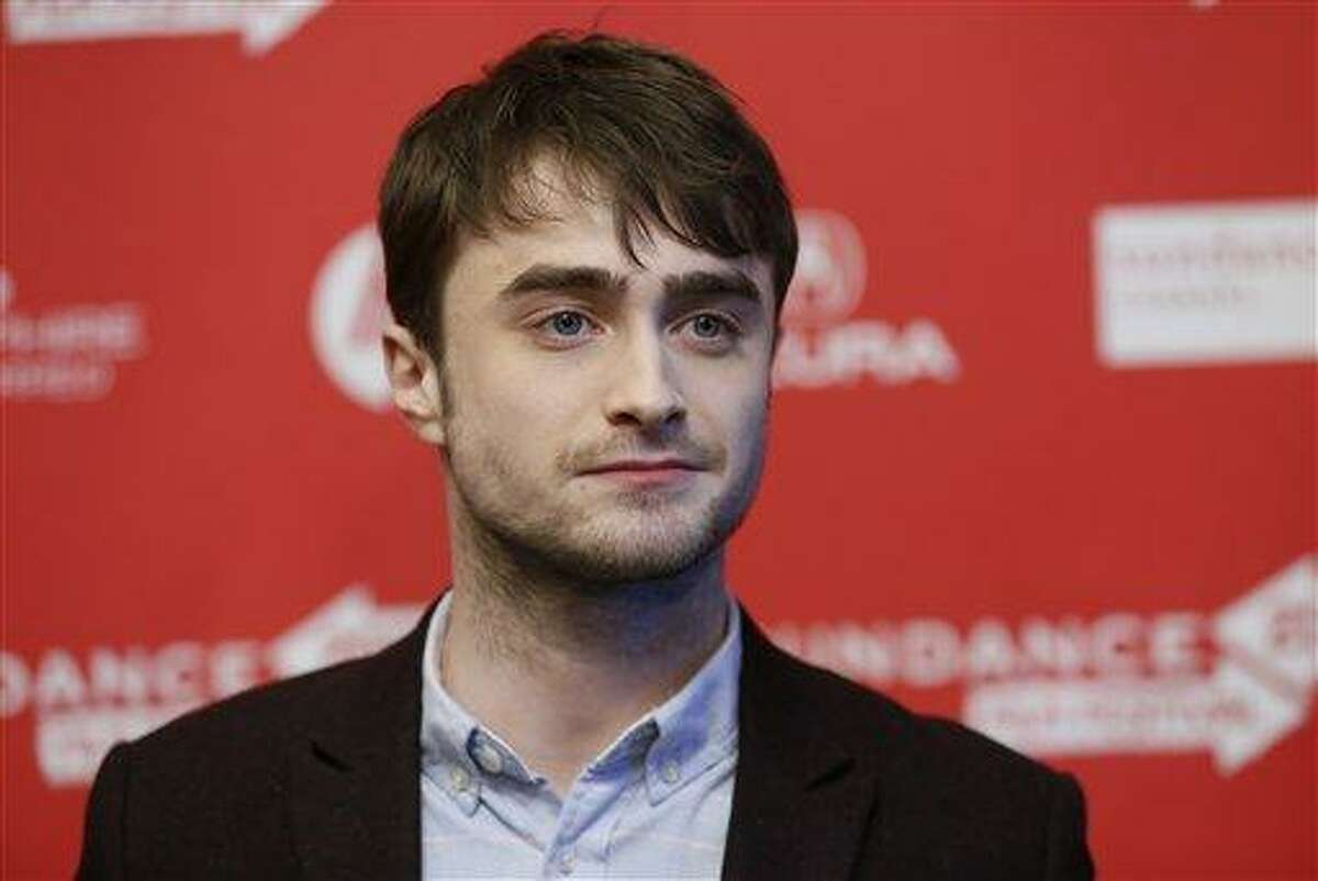 Actor Daniel Radcliffe poses at the premiere of